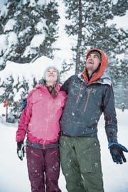 Schnee ist ihr Element: Corinna Melmer und Heiko Hepperle. Bild: Manuela Jans-Koch (Klewenalp, 17. Januar 2019)