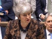 Die britische Premierministerin Theresa May hat am Montag in London das Parlament über ihren Plan B informiert. (Bild: KEYSTONE/EPA PARLIAMENTARY RECORDING UNIT/PARLI)