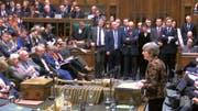 Aufnahme aus einem Video des gestrigen Auftritts von Theresa May vor dem britischen Unterhaus. (Bild: PD/EPA (London, 21. Januar 2019))