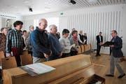 Am Anlass im evangelischen Kirchgemeindehaus in Herisau nahmen rund 60 Personen teil. (Bild: PD)