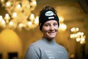 Carole Bissig bei einem Medientermin im Vorfeld der Weltcup-Rennen von St.Moritz. (Bild: Gian Ehrenzeller/Keystone (St.Moritz, 7. Dezember 2018))