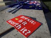 Die EU reagiert gelassen auf den «Plan B» zum Brexit, den die britische Premierministerin Theresa May am Montag vorgestellt hat. (Bild: KEYSTONE/AP/KIRSTY WIGGLESWORTH)