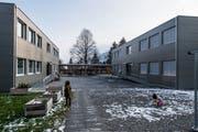 Die Modulbauten auf der Krauerwiese geben zu reden. (Bild: Nadia Schärli (Kriens, 21. Januar 2019))