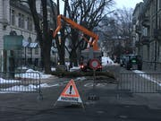 Die Blumenaustrasse wird für die Fällaktion voraussichtlich den ganzen Tag gesperrt sein.