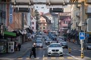 Das Ortsbild von Emmen soll sich weiterentwickeln. Hier ein Blick in die Gerliswilstrasse. (Bild: Boris Bürgisser (Emmen, 23. Januar 2019))