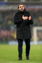Daniel Farke bejubelt einen Sieg Norwichs gegen Rotherham. (Bild: Getty)