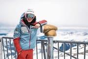 Marco Odermatt posiert auf dem Titlis. (Bild: PD)