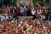 Die Wut wird immer grösser: Demonstranten bei einer Kundgebung in der Nähe von Caracas. (Bild: Carlos Becerra/Bloomberg (21. Januar 2019))