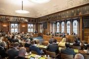 Im Kantonsrat sitzen zurzeit zwölf Gemeindepräsidenten und Gemeinderäte. (Bild: Ralph Ribi (8. Mai 2017))