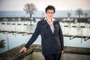 Tamara Wiedermann am Hafen. (Bild: Reto Martin)