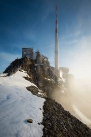 Längst sind Mitarbeitende der Swisscom Broadcast AG nicht mehr 7x24h auf dem Säntis. (Bild: Benjamin Manser)