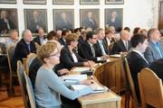 Blick in die Eröffnungssitzung des Kantonsrats Obwalden zur Legislatur 2018/22. (Bild Markus von Rotz (Sarnen, 29. Juni 2018))