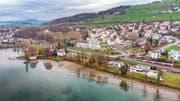 Rorschacherberg stimmt über einen Uferweg entlang des Neuseelands ab. Links im Bild die Villa Mang mit Bootshaus. (Bild: Urs Bucher)