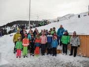 Die Pontoniere nach dem Vereinsskirennen auf Malbun am Buchserberg. (Bild: PD)