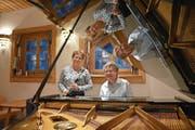 Christian Mattli und Susanne Döhnert-Dätwyler schauen auf ihre musikalischen Erfahrungen zurück. (Bild: PD)