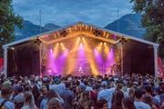 Blaue Stunde am Rapattack Festival 2018 in Sarnen.(Bild:André A.Niederberger (Sarnen, 28.Juli 2018))