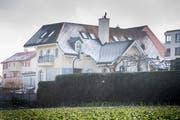 Die schmucke Villa in Scherzingen: Hier wohnte der ehemalige Tour-de-France-Gewinner mit seiner Familie. (Bild: Andrea Stalder)