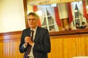 Nationalrat Karl Vogler referierte am jüngsten Parteitag der CVP Obwalden. (Bild Robert Hess (Sarnen, 9. Januar 2019))