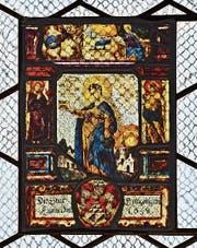 Scheibe der Steuer Gangolfswil in der Kirche St.Wendelin in Holzhäusern. (Bild: Andreas Faessler)