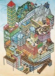 So könnte die Stadt der Zukunft aussehen; der Trend zur Innenentwicklung fördert den Hochbau. (Bild: Titus Ladner)