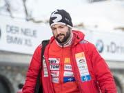 Der 21-jährige Schwyzer Michael Vogt überrascht beim Heim-Weltcup in St. Moritz mit Platz 4 im Zweierbob (Bild: KEYSTONE/URS FLUEELER)