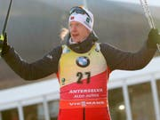 Johannes Thingnes Bö läuft aktuell in einer eigenen Liga (Bild: KEYSTONE/AP ANSA/ANDREA SOLERO)