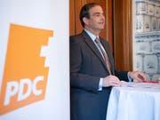 CVP-Präsident Gerhard Pfister hat an der Delegiertenversammlung seiner Partei in Zürich für den Zusammenhalt plädiert. (Bild: KEYSTONE/ANTHONY ANEX)
