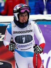 Viel Pech für Michelle Gisin. (Bild: AP Photo/Giovanni Auletta, Garmisch-Partenkirchen, 25. Januar 2019)