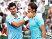 Der bisher letzte Grand-Slam-Final zwischen Novak Djokovic (li.) und Rafael Nadal: Am French Open 2014 setzte sich der Spanier durch (Bild: KEYSTONE/EPA/ETIENNE LAURENT)