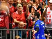 Nikola Karabatic freut sich riesig über den Siegtreffer (Bild: KEYSTONE/AP/MARTIN MEISSNER)