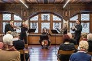 Die Kammer Solisten Zug beim Konzert im Gotischen Saal im Rathaus. (Bild: Patrick Hürlimann (Zug, 26. Januar 2019))