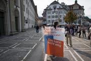 Die Senkung der Einkommensgrenze für Prämienverbilligungen löste 2017 Proteste aus. Bild: Urs Flüeler/Keystone (Luzern, 8. September 2017)