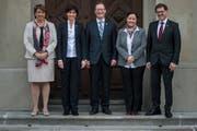 Im Regierungsrat sind Frauen in der Mehrheit.(Bild. Reto Martin)
