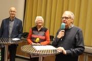 Ruedi Bertschi, Regula Streckeisen und Matthias Loretan diskutieren über «Zwingli». (Bild: Markus Bösch)