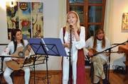 «Macedonian Soul Trio» mit Tanja Jankova, Beti Pavleska Schreiber und Sashko Jankov. (Bild: Christoph Heer)