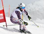 Sarah Briker-Stucki ist die Siegerin im Riesenslalom der Frauen.
