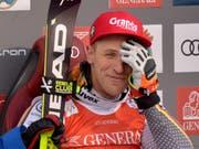 Josef Ferstl kann es selber kaum glauben - Sieger in Kitzbühel (Bild: KEYSTONE/APA/APA/HERBERT NEUBAUER)