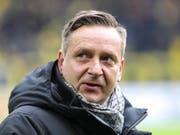 Die 1:5-Niederlage am Samstag in Dortmund brachte das Fass zum Überlaufen: André Breitenreiter ist nicht mehr Trainer von Hannover 96 (Bild: KEYSTONE/EPA/ARMANDO BABANI)