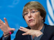 Uno-Menschenrechtskommissarin Michelle Bachelet warnte am Sonntag vor wachsenden Ausgrenzungstendenzen. Sie prangerte am Holocaust-Gedenktag die Tendenz an, die Ereignisse des Holocaust zu verharmlosen oder gar zu leugnen. (Bild: KEYSTONE/MARTIAL TREZZINI)