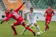 Leere Ränge: Der FC St.Gallen spielte am Samstag ohne Publikum gegen Altach. (Bild: Michel Canonica)