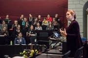Die Gruppe «Frauen Luzern Politik» beim Referat von Viviane Speranda-Koller über Chancen und Stolpersteine in der Öffentlichkeit. (Bild: Dominik Wunderli, Luzern, 28. Januar 2019)