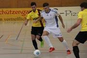 Auch der FC Altstätten musste bei der 0:5-Niederlage in der Vorrunde St.Margrethens spielerische Überlegenheit anerkennen. (Bild: Dominik Sieber)