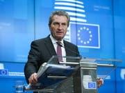 Der EU-Beitritt von sechs Ländern des westlichen Balkans wird nach den Worten von EU- Haushaltskommissar Oettinger derzeit als «Tabu» behandelt. (Bild: KEYSTONE/EPA/ARIS OIKONOMOU)