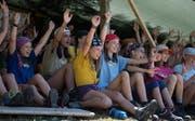 Im Sommerlager - hier der Blauring Altdorf - erleben die Teilnehmerinnen gemeinsam viel Spass. (Bild: Corinne Glanzmann (Buttisholz, 16. Juli 2018))