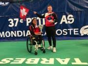 Nalani Buob, hier mit ihrem Coach, Joop Broens, hat an der WM keinen Satz abgegeben. (Bild: PD)