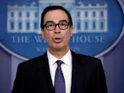 Die US-Sanktionen sollen laut Finanzminister Mnuchin in Kraft bleiben, bis in Venezuela eine Übergangsregierung oder eine demokratisch gewählte Regierung in im Amt ist. (Bild: KEYSTONE/AP/EVAN VUCCI)