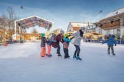 Rund die Hälfte aller Besucher des «Eiszaubers» auf der Kreuzbleiche sind Städterinnen und Städter. (Bild: Urs Bucher (18. Januar 2019))