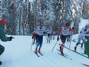 Cyril Fähndrich unterwegs auf dem Weg zu Bronze, 0,9 Kilometer vor dem Ziel beisst er auf die Zähne. (Bild: Edi Zihlmann (Lahti, 24. Januar 2019)