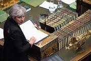 Theresa May bei ihrer Rede vor dem britischen Unterhaus. (Bild: Jessica Taylor/AP (London))