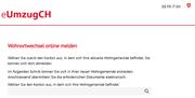 Printscreen von eUmzugCH.